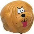 "Dog Ball Stress Reliever - Dog ball shape stress reliever, 2 3/4"" diameter."