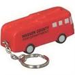 Fire truck key chain - Polyurethane fire truck key chain.
