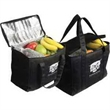 Picnic Recycled P.E.T. Cooler Bag - Insulated recycled P.E.T. shopping bag with reflective-lined interior.