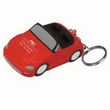 Convertible Car Key Chain Stress Reliever - Convertible car shape stress reliever with key chain.