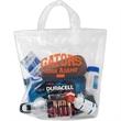 """Crystal Clear Stadium Security Soft Loop Bag - Flexo Ink - Crystal Clear Stadium Security Fused Soft Loop Handle Plastic Bags (12""""x12""""x6"""") - Flexo Ink"""