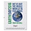 Earth Day Seed paper postcard: 30 Stock Designs
