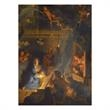Angelic Welcome Wrap Around Religious Holiday Card - Holiday card with the full wrap around design of the nativity scene