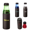 "Coronado 24 oz. Aluminum & AS Water Bottle - 2.75"" x 9.62"" x 2.75"" bottle with 24 oz. capacity; includes screw-on neck with silicone seal and twist-off bottle cap lid."