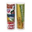 "Baseball Tube / Small - Small tube with baseball themed snacks. 3"" dia. x 9.69"" h."