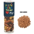 """Healthy Snack Tube With Raw Almonds (Small) - Healthy snack tube measuring 1.75"""" Diameter x 5.5""""H  with 2.7 oz. of raw almonds."""
