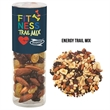 Healthy Snack Tube With Energy Trail Mix (Small) - Healthy snack tube with 5 oz. of energy trail mix including raisins, chocolate chips, cranberries, and more.