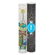 Healthy Snax Tube (large) - Healthy snacks tube with water, granola bar, Clif® bar, popcorn, trail mix and 4-color process artwork.