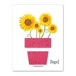 Seed Paper Shape Postcard: Easy Way Stock Designs