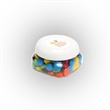 M&Ms® Plain in Sm Snack Canister - Small snack canister filled with plain M&M's®; includes four color process imprint on the lid.