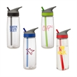 Daytona 28 oz. Tritan™ Water Bottle - 28 oz.Tritan bottle; includes twist-off lid, flip-up spout, integrated straw and carrying handle.
