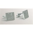 Cuff Links - Polished nickel toggle cuff links.
