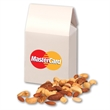 Deluxe Mixed Nuts in White Gable Box - white gable top gift box with full color imprint and deluxe mixed nuts