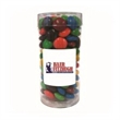 M&MS® Plain in Med Fun Tube - Fun tube filled with 4 ounces of plain chocolate M&M's®; includes four color process imprinted label.