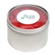 Swedish Fish® in Lg Round Window Tin - Swedish Fish® packed inside a large round window tin with customization options.