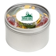 Jolly Rancher® in Lg Round Window Tin - Jolly Ranchers® packed inside a large round window tin with customization options.