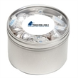 Hersheys® Kisses® in Lg Round Window Tin - Hershey's® Kisses ® packed inside a large round window tin with customization options.