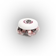 Tootsie Roll® Candy in Sm Snack Canister - Small snack canister filled with Tootsie Rolls®; includes four color process imprint on the lid.