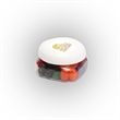 Standard Jelly Beans in Sm Snack Canister - Small snack canister filled with standard jelly beans; includes four color process imprint on the lid.