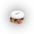 Jelly Belly® Candy in Sm Snack Canister - Small snack canister filled with Jelly Belly® jelly beans; includes four color process imprint on the lid.