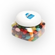 Jelly Belly® Candy in Lg Snack Canister - Large snack canister filled with Jelly Belly® jelly beans; includes four color process imprint on the lid.