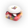 Standard Jelly Beans in Lg Snack Canister - Large snack canister filled with standard jelly beans; includes four color process imprint on the lid.
