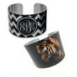 "Personalized Cuff Bracelet - Metal White or Silver 1.625"" - Personalized Photo Cuff Bracelet - Silver or White Aluminum"