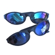 Wrap Around Style Sunglasses - Sunglasses with all black frames and temples and color mirrored lenses