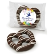 Dark Chocolate Dipped Pretzel - Individually labeled dark chocolate covered jumbo pretzel