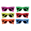 Solid Color Neon Sunglasses - Neon colored sunglasses with matching frames.