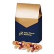 Deluxe Mixed Nuts in Navy & Gold Gable Top Gift Box - navy and gold gable top gift box filled with deluxe mixed nuts