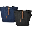 Carolina Sewn Strapping Tote - Strapping tote with genuine leather accents. Blank.
