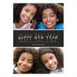 Happy New Year Flat 2 Photo Holiday Card - Happy New Year Flat 2 Photo Holiday Card