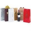 """Natural Euro Tote Wine Bag w/ Rope Handles 6 1/2""""x3 1/2""""x13"""" - Natural Euro Tote Wine Bag w/ Rope Handles (6 1/2"""" x 3 1/2"""" x 13"""")."""
