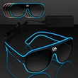 "Neon Look Aviator EL Shades - Awesome ""Neon Nights"" Aviator EL Shades"