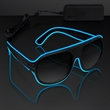 "Blue Aviator EL Shades - Blue ""Neon Nights"" Aviator EL Shades, Blank Stock."