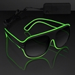 "Green Neon Aviator EL Shades - Green ""Neon Nights"" Aviator EL Shades, Blank Stock"