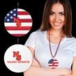 "American Flag Plastic Medallions- 2 1/2"""