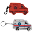 Ambulance Floating Key Tag