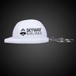 White Plastic Construction Hat Bottle Opener Key Chain