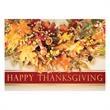 Autumn Leave Wreath Thanksgiving Greeting Card - Autumn Leave Wreath Thanksgiving Greeting Card