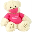"""9"""" Pink Scrub Bear with one color imprint"""