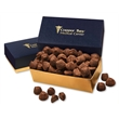 Cocoa Dusted Truffles in Navy & Gold Gift Box - Navy and gold gift box filled with cocoa dusted truffles