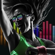 Sound Reactive LED Slotted Glasses - Our Sound Activated LED Glasses are awesome for music events. Watch the LEDs bounce to the beat of any music. Imprint on the arm!