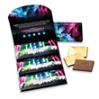 Deluxe Trio Wallet (1 design) - Three printed trio boxes packaged in a tri-fold wallet.
