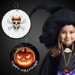 "Halloween Pumpkin Plastic Medallions - 2 1/2"""