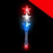 BLANK LED Triple Star Wand - Red-White-Blue - BLANK LED Triple Star Wand - Red-White-Blue