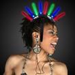 Light Up LED Glow Spiked Novelty Mohawk - Light up  LED Glow spiked mohawk with black headband with plastic spokes, blank.