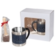 Casablanca™Coffee Cups & Hot Chocolate in Spoon Gift Set - Gift set of two coffee cups with two hot chocolate spoons.