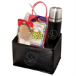 Tuscany (TM) Thermos, Hot Chocolate & S'mores Gift Set - S'mores, two hot chocolate spoons, and a 16.9 oz. thermos in a folding bin.